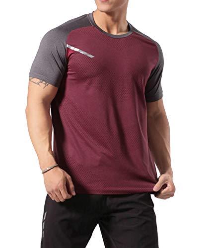 GYMAPE - Camiseta deportiva de manga corta para hombre,...