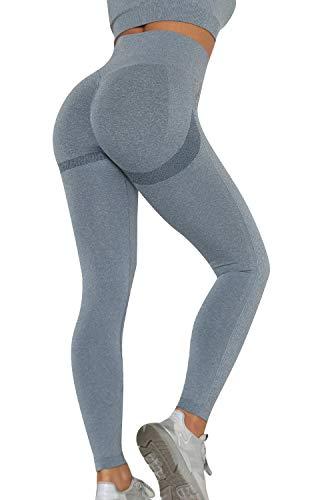 Voqeen Sensual Pantalones de Yoga de Punto Sin Costuras Mujeres...