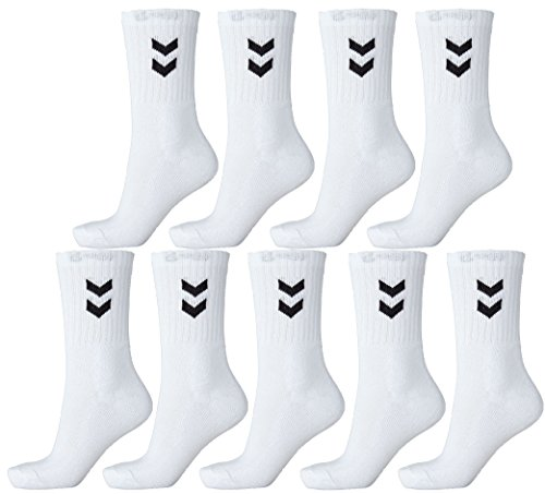 Hummel nueve pares de calcetines deportivos unisex, veintidos mil treinta,...
